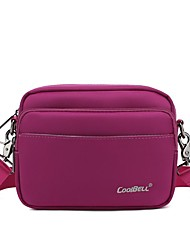 CoolBell 7 Inch Water Resistant Lightweight Leisure Messenger Bag with Single Shoulder Strap for Women CB-3002