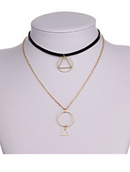 Necklace Pendant Necklaces Jewelry Party / Daily Triangle Shape Basic Design Alloy Women 1pc Gift Gold