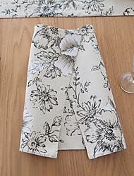 Carré Impression / Avec motifs / Fleur Sets de table , Coton mélangé Matériel Tableau Dceoration / Hôtel Dining Table