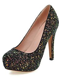 Women's Heels Spring Summer Fall Winter Platform Glitter Customized Materials Wedding Dress Party & Evening Chunky Heel Platform Sequin