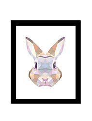 Unframed Canvas Print Abstract Modern / European Style Rabbit Pattern Wall Decor For Home Decoration