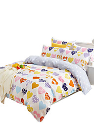 Mingjie 100% Cotton Yellow Heart Bedding Sets 4PCS for Twin Full QueenSize from China Contian 1 Duvet Cover 1 Flatsheet 2 Pillowcases
