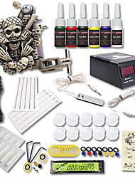 Beginner Tattoo Kit 1 Relief Tattoo Machine 6 Color Inks Tattoo Set Tattoo Power Supply