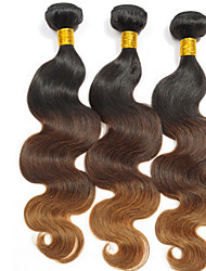 Menschenhaar spinnt Brasilianisches Haar Natürlich gewellt 3 Stück Haar webt