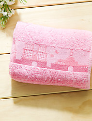 Wash Towel Pink/ Blue/ Yellow Jacquard High Quality 100% Cotton Towel