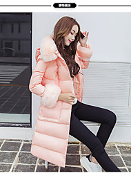 2016 new Korean Nagymaros collar thickening hooded loose big yards long section down jacket women Discounted shipping