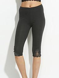 Women Solid Color Legging,Polyester