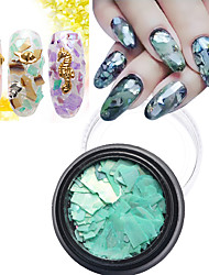1Pcs Colors Shell Paper Sticker Nail Art Decoration