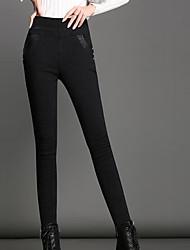Femme Solide Polyester Couleur Pleine Legging,Cet article est à TAILLE CORRESPONDANTE à votre taille normale.