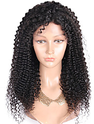 Top Grade 10-28 Inch Brazilian Hair Full Lace Wig Kinky Curly Hair 130% Density Human Hair Lace Wig Natural Black Color