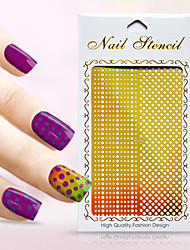 New Nail Art Hollow Stickers Love Heart Shape Star Flower Geometric Design Nail Beauty K021-030