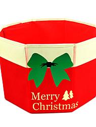 Kerstversieringen Kerstfeest Artikelen Alles voor de feestdagen 1Pcs Kerstmis Textiel Zilver
