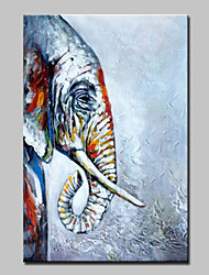 Hand Painted Elephant Animal Oil Painting On Canvas Modern Abstract Wall Art Pictures For Home Decoration Ready To Hang