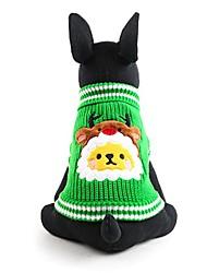 Dog Sweater Green Dog Clothes Winter Animal Cute / Fashion / Keep Warm / Christmas
