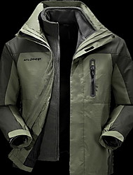 Hiking Tops Men's Waterproof / Thermal / Warm / Windproof / Insulated / Comfortable Spring / Fall/Autumn / Winter TeryleneBlue / Army