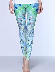 Yoga-Hose Unten Videokompression Hoch Sportbekleidung Hellgrün Damen Sport Yoga