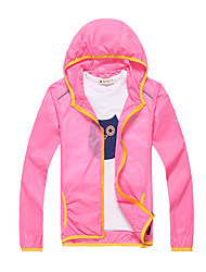 Running Sun Protection Clothing Sweatshirt Windbreakers Kids' Long SleeveWaterproof Breathable Quick Dry Windproof Ultraviolet