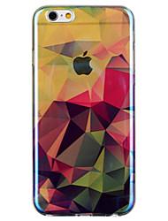 Для Кейс для iPhone 6 / Кейс для iPhone 6 Plus С узором Кейс для Задняя крышка Кейс для Геометрический рисунок Мягкий TPUiPhone 6s Plus/6