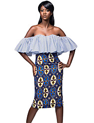 Women's Trendy African Fashion Print Bodycon Midi Skirt