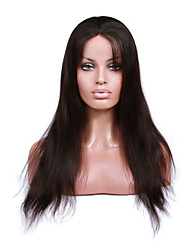 Premierwigs 8''-26'' Natural Straight Brazilian Virgin Glueless Full Lace Human Hair Wigs Glueless Lace Front Wigs 8A