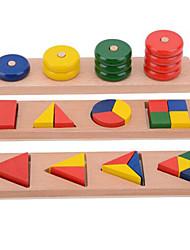 Blocos de Construir Brinquedo Educativo para presente Blocos de Construir Brinquedos Originais Circular Quadrangular Madeira2 a 4 Anos 5