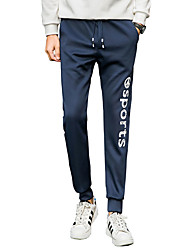 Men's Plus Size Skinny / Harem Chinos / Sweatpants Pants,Casual/Daily / Club / Sports Simple / Street chic / Active Solid Low Rise