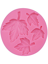 4 Holes Leaf Pattern Fondant Silicone Molds for Cake Decorating Chocolate Soap Mould Baking Tools for Cakes SM-109