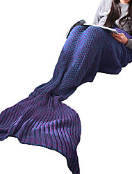 Mermaid Tail Fairytale Festival/Holiday Halloween Costumes Purple Solid More Accessories Tail Halloween Christmas New Year Female Cotton