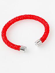Women's Cuff Bracelet Bracelet Crystal Acrylic Simulated Diamond Orange Coffee Red Camel Dark Red Jewelry 1pc