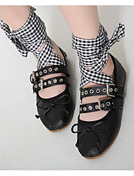 Women's Flats Others PU Outdoor Black White