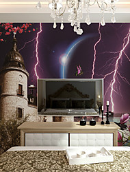 Décoration artistique / 3D Fond d'écran pour la maison Contemporain Revêtement , Toile Matériel adhésif requis Mural , Chambre