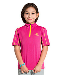 Kid's Short Sleeve Running Tops Breathable Quick Dry Windproof Spring Summer Sports Wear Yoga Taekwondo Climbing Golf Leisure Sports Slim