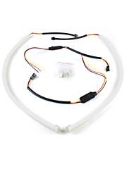 merdia 8W 200LM высокая производительность Светодиодные полосы света дневного света / украшения свет (белый и желтый / 60см)