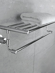 Wall Mounted Stainless Steel Bathroom Towel Rack - Silver
