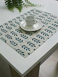 Rectangulaire Brodé Sets de table , Coton mélangé Matériel Hôtel Dining Table / Tableau Dceoration