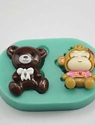 supporter singe en forme de gâteau fondant au chocolat moule en silicone moule / décoration des outils pour la cuisine cuisson