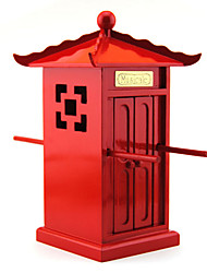 Music Box Castle in the Sky Sweet / Special / Creative Wood Red For Boys / For Girls