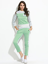 Women's Fashion Casual round collar Cotton Suit(Hoodie&Pant)