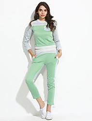 Mode lässig Rundkragen Baumwollanzug Frauen (Hoodie&kurze Hose)
