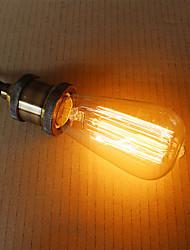 Source d'éclairage de décoration 60w e27 ST58 fil rectiligne mamelon Edison art tungstène