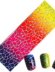 NEW Designs Gradual Change Cobweb Image Decals Sticker Nail Foils for Full Wraps Nail Adhesive Polish 100cmx4cm