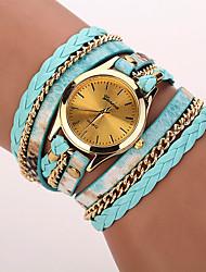 Mulheres Relógio de Moda Relógio de Pulso Bracele Relógio Quartzo Punk Colorido PU BandaVintage Leopardo Boêmio Pendente Bracelete Legal