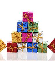 12pc / set coloridas christmas tree caixa de decoração do feriado do casamento da fonte do partido que penduram o ornamento do xmas cores