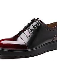 Chaussures Hommes Mariage / Extérieure / Bureau & Travail / Décontracté / Soirée & Evénement Bleu / Jaune / Bordeaux Cuir Richelieu