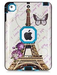 Para Água / Dirt / à prova de choque Estampada Capinha Corpo Inteiro Capinha Torre Eiffel Rígida TPU para Apple iPad Mini 3/2/1