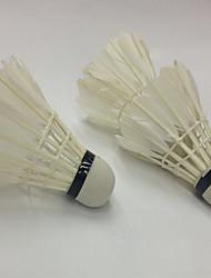 Badminton BallesPlume de canard) -Faible résistance de l'air Haute résistance Haute élasticité Durable