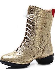 Sapatos de Dança(Preto / Vermelho / Branco / Prateado / Dourado) -Feminino-Personalizável-Latina / Jazz / Tênis de Dança / Moderna