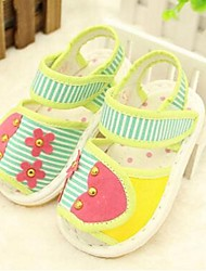 Kids' Girls' Baby Sandals Comfort Canvas Cotton Casual Comfort Ruby Green Flat