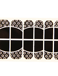 Forma 12PCS Deficiência Flor Black Lace Art Nail Stickers NO.14