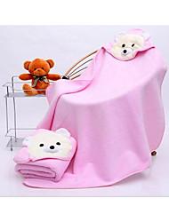 bebê super macia cor toalha com capuz aleatório